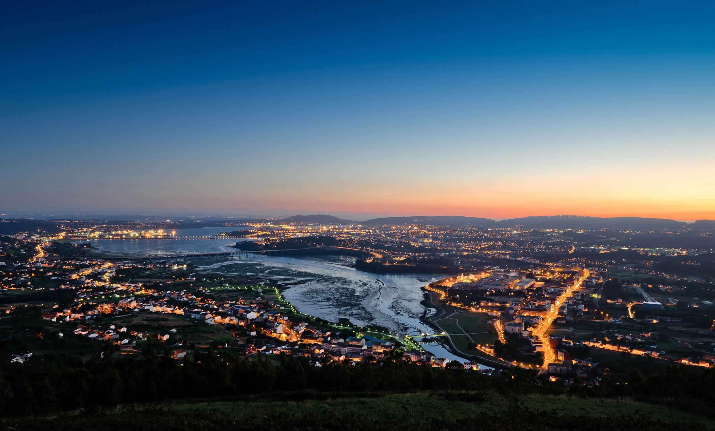 Camino Ingles - Ferrol at sun set