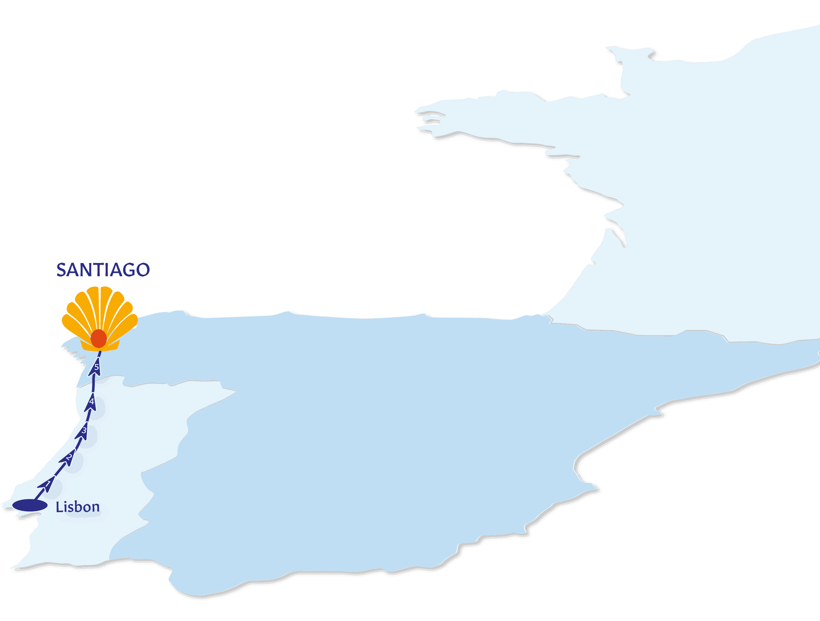 Camino Portugal Map