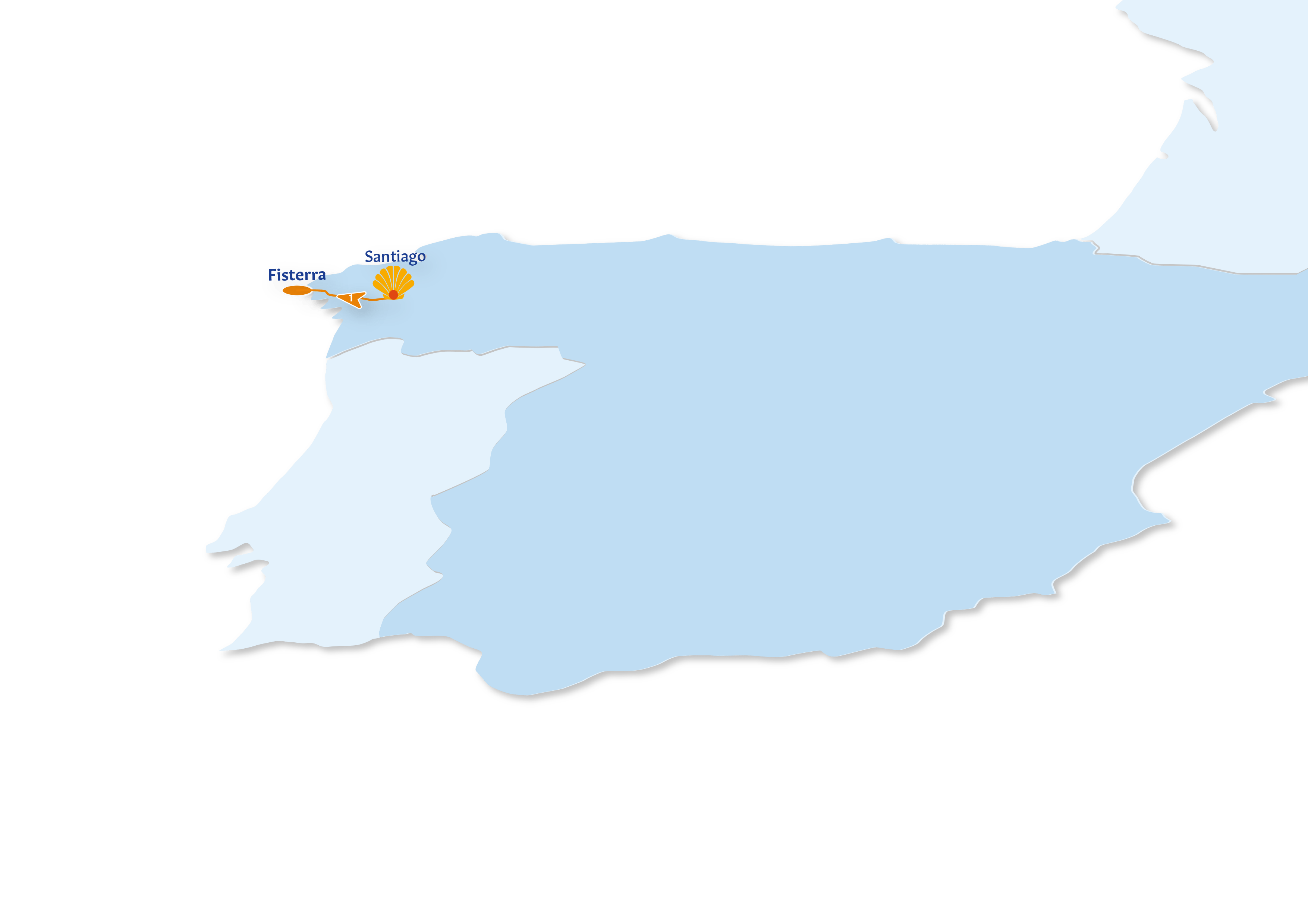 Camino Finisterre Route map
