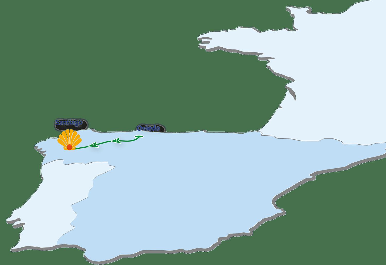 Camino Primitivo Route Map